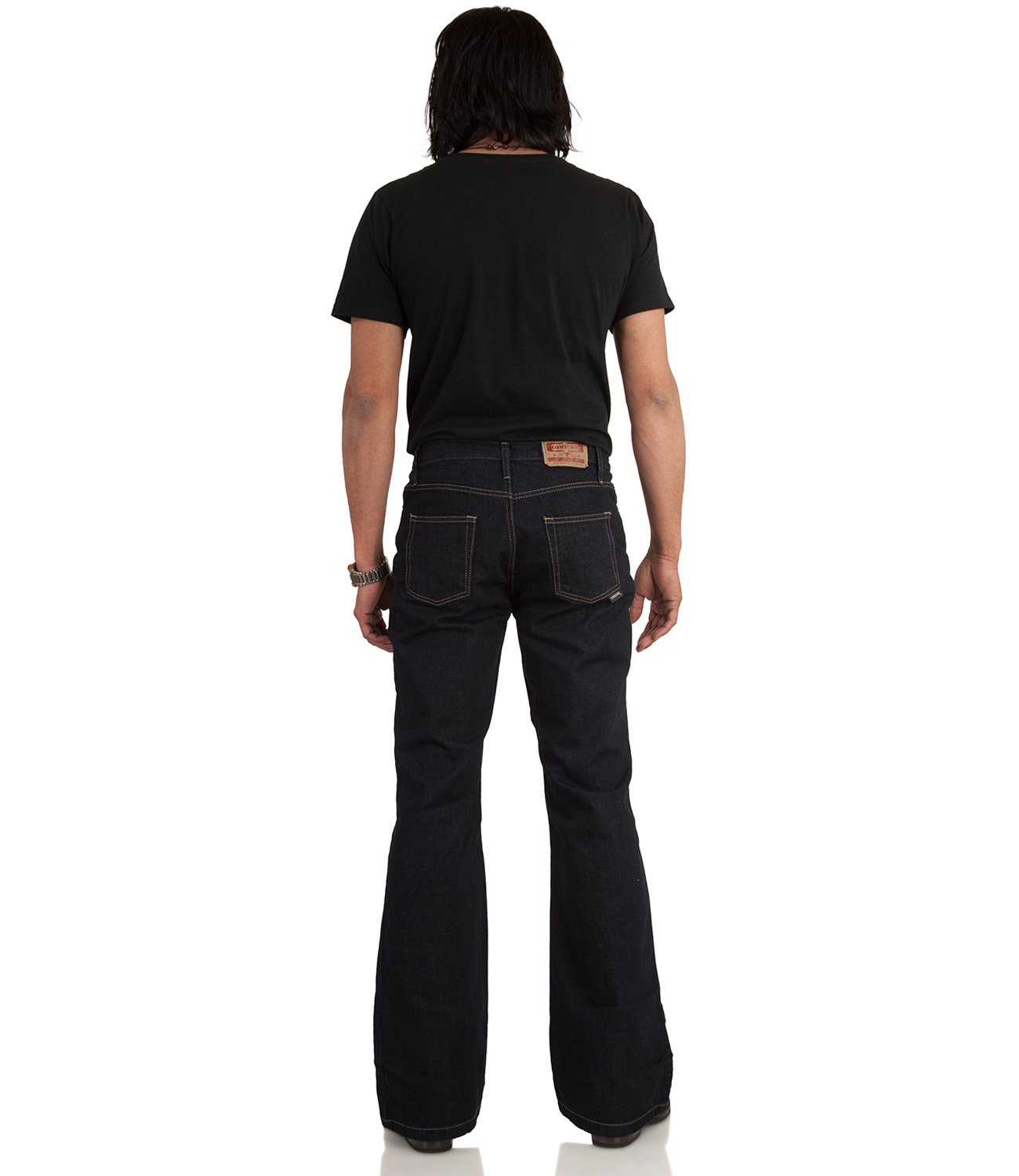 Bootcut Hose dark washed